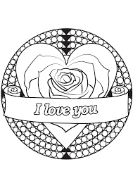 Free coloring pages to download and print. Valentine S Day 3 Valentine S Day Adult Coloring Pages