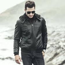 sheepskin leather hooded motorcycle jacket alpinestars genuine china hooded casual jacket motorcycle biker denim