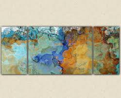 very large abstract wall art canvas print triptych in brown and blue very large abstract wall art canvas print triptych in brown and blue on large abstract wall art cheap with very large abstract wall art canvas print triptych in brown and blue