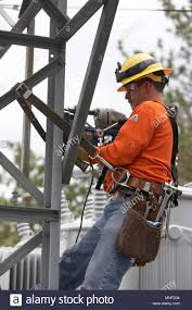 And Electric Utility Engineer Working On A Maintenance