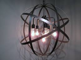 wine barrel 6 arm chandelier polished nickel