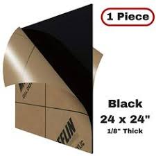 Amazon.com: MIFFLIN Cast Plexiglass <b>Sheet</b> (Opaque <b>Black</b>, <b>1</b> ...