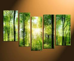 5 piece canvas wall art home decor scenery huge pictures green group canvas on 5 piece canvas wall art trees with 5 piece canvas wall art scenery canvas print green canvas