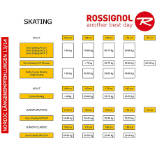 Nordic Ski Sizing Chart Rossignol Rossignol Delta Skating Nis 13 14 At Sport Bittl Shop