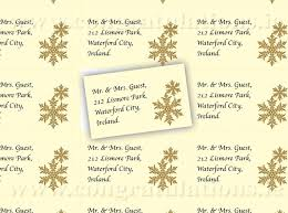 Snowflake Address Labels Gold On Ivory Background