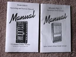 Antares Vending Machine Owners Manual Enchanting Antares Combo Vending Soda Snack Operating Manuals Set EBay