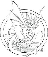 Dragon Coloring Pages Realistic Germanslateinfo