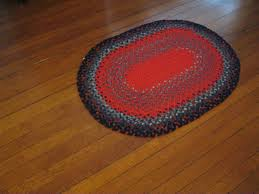vintage hand braided rug small oval red blue by small oval bathroom rugs