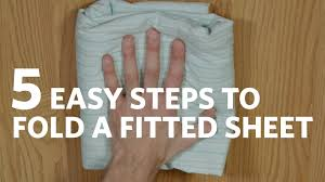 fold fitted sheet fold a fitted sheet in 5 easy steps youtube