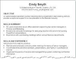 The Best Objective For Resumes Finance Objective Resumes Resume Intern Examples Mmventures Co