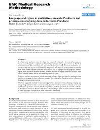 A qualitative research paper solves the research problem with the help of research tools like interviews, group discussions etc. Language And Rigour In Qualitative Research Problems And Principles In Analyzing Data Collected In Mandarin Topic Of Research Paper In Psychology Download Scholarly Article Pdf And Read For Free On Cyberleninka