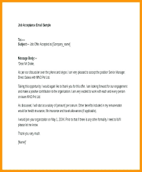 Offer Acceptance Email Sample Job Offer Acceptance Email Example Vbhotels Co