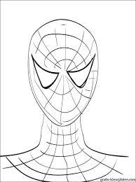 Leuke Kleurplaat Portret Van Spider Man Gratis Kleurplaten