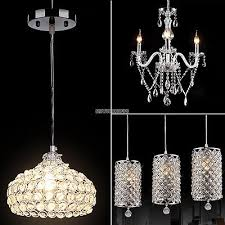 modern crystal chandelier ceiling light pendant lamp fixture for kitchen bar