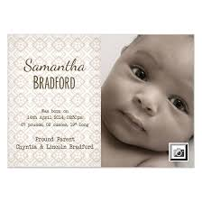 Patterned New Born Baby Announcement Invitations Cards On