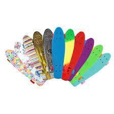 Skateboards Designs Charles Bentley Kids Retro Cruiser Mini Plastic Skateboards Fully Assembled Designs Colours Prints 22