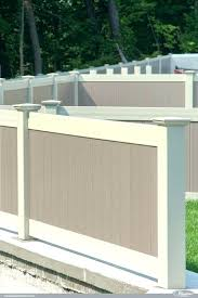 illusions vinyl fence dealers two color ideas featuring adobe and antique a86