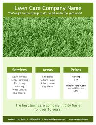 flyer word templates lawn care flyer template for word