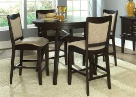 5 piece round pub table set dining sets bar stool height full size