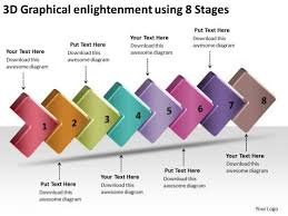3d Flow Chart Powerpoint 3d Graphical Enlightenment Using 8 Stages Free Flow Charts