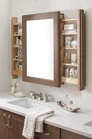 vanity mirror cabinet. Contemporary Cabinet The Vanity Mirror Cabinet With Side Pullouts Is A Bathroom Storage  Innovation Assisting Morning Multitaskers By Keeping The Mirror Frontandcenter And