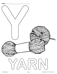 Small Picture FREE Letter Y Coloring Pages Uppercase Y Lowercase y