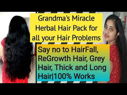 grandma s herbal hair pack for extreme