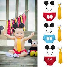Baby Boy 1st Birthday Cake Smash Mickey Mouse Costume Party Photo