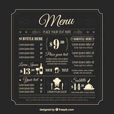 free food menu templates 50 free food restaurant menu templates xdesigns 17 day