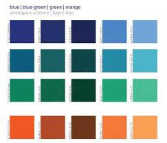 Analogous Scheme Blue - Blue-green - Green - Orange
