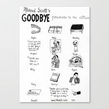 michael scott s letter of recommendation for dwight michael scotts goodbye presents to the office canvas print