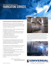 Fabrication Design Definition Fabrication Services Universal Tank And Fabrication