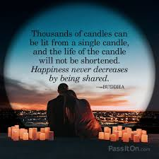 Thousands Of Candles Can Be Lit From A Single Candle And The Life