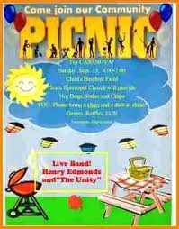 Company Picnic Template Company Picnic Flyer Templates Image Church Template Download