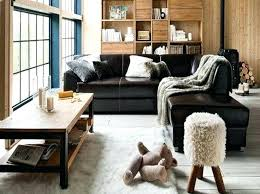 black leather sofa decor full size of living room ideas with black sofa studio decor on