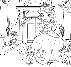 Sofia Coloring Pages For Kids Printable