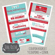 Romantic Love Coupons Valentine Coupon Book Printable Etsy