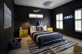 cool bedroom designs for guys grey striped bed sheet includes pillows white bedding featuring red pillow