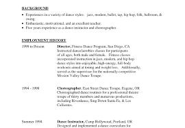 Resume Format For Dance Teacher Beautiful Instructor Image