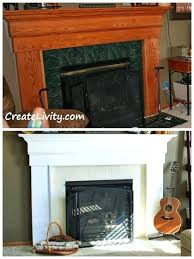 paint for fireplace fireplace makeover painting tiles fireplace before and after share your craft tiled fireplace
