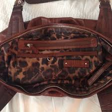 see all photos to b makowsky brown leather bags