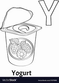Posted in foods coloring pages. Letter Y Coloring Pages Inspirational Alphabet Letter Y Coloring Page Yogurt Royalty Free Vector Coloring Letters Love Coloring Pages Alphabet Coloring