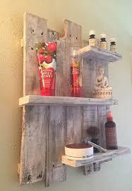 rustic wood bathroom shelves white 3
