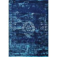 tanja overdyed medallion blue 4 ft x 6 ft area rug