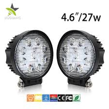 Truck Mounted Led Work Lights China 12 24 Volt Round Flood And Spot Lights Auto 27w Led