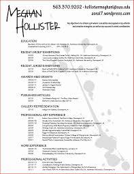 Sample Artist Resume Artist Resume Format Awesome Artist Resume Format Artist Cv Template 6