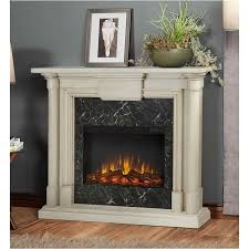bowery hill indoor slim electric fireplace in antique white