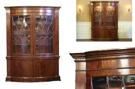 High End China Cabinets High End Bow Front China Cabinet Hutch Mahogany Display Cabinet