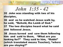 Image result for john 1: 35-42