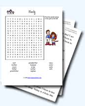 Family Relations Worksheets